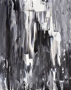 Melted - Black And White Abstract Art Painting Painting by ...