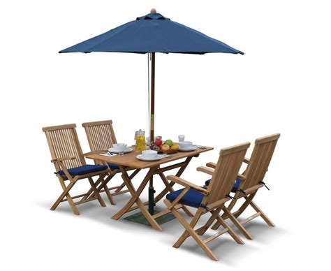 rimini garden folding dining table and arm chairs