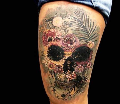 flower skull tattoos  pinterest pretty skull tattoos skull flower head tattoo