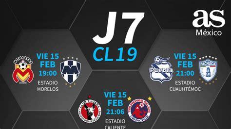 Fechas y horarios de la jornada 7 del Clausura 2019 de la ...
