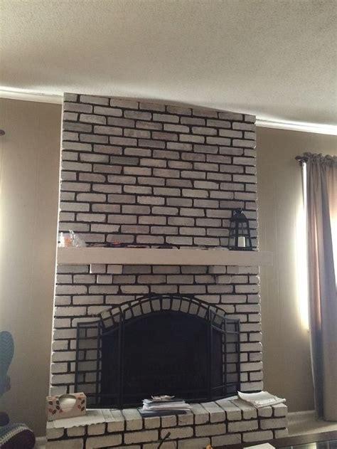 ideas  white washed brick fireplace mantle decor hometalk