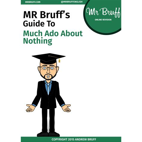 mr bruff s guide to shakespeare s much ado about nothing ebook mrbruff