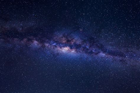 Beautiful Milky Way With Stars And Space Dust On A Night