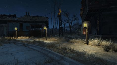 fallout 4 industrial wall light power steam community screenshot fallout 4 settlement road