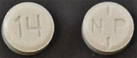 N P 14 Pill Images (Gray / Round)