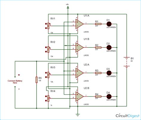 Battery Monitor Circuit Diagram