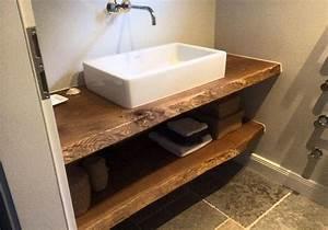 Waschtisch Aus Holz Für Aufsatzwaschbecken : waschtisch konsole waschtischkonsole waschtischplatte massiv aus holz auf ma eiche holzwerk ~ Watch28wear.com Haus und Dekorationen