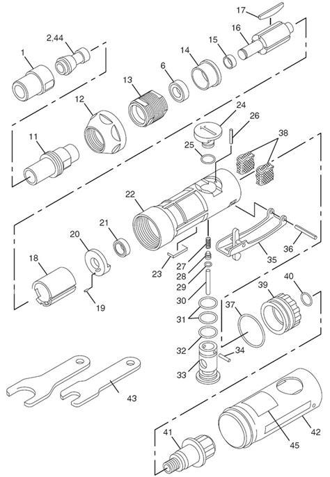 Chicago Pneumatic CP856 Die Grinder Repair Parts