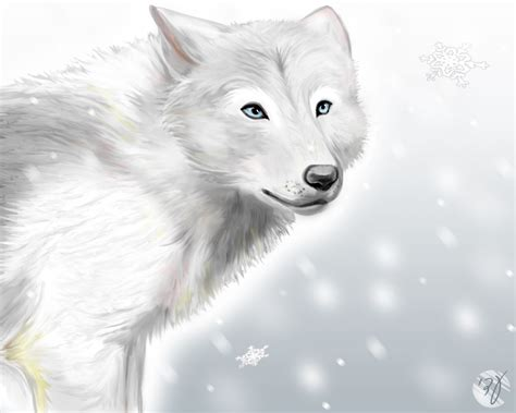 It's for a personnal chalenge work of art. white wolf by adiAdii on DeviantArt