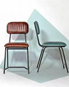 Chaise Industrielle Cuir : chaise industrielle marron furniture pinterest chaise chaise cuir and chaises r tro ~ Teatrodelosmanantiales.com Idées de Décoration