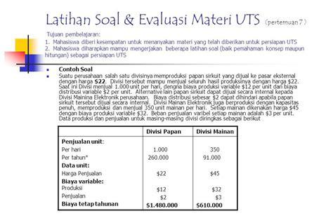 contoh soal balance scorecard akuntansi manajemen contoh