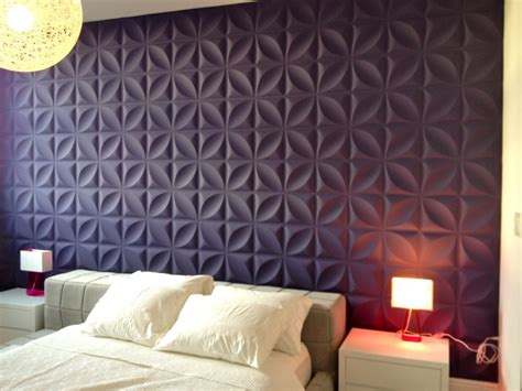 stupendous upholstered wall panels  beds  purple