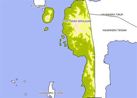 halmahera kabupaten kota  provinsi maluku utara