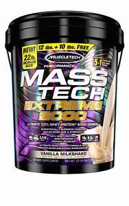 Muscletech Mass Tech 100  Whey Protein Powder Mass Gainer  Vanilla Milkshake  80g Protein  22lb