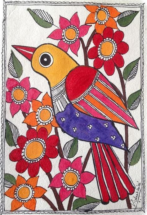 garden bird paintings   indian folk art gond