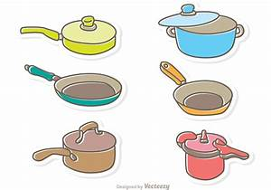 Cartoon Cooking Pan Vector Pack - Download Free Vector Art ...