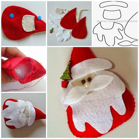 wonderful diy felt santa   template