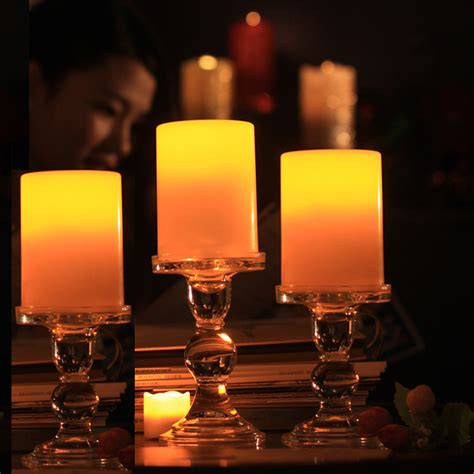 flickering led candle lights flickering flameless resin pillar led candle lights w