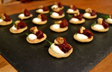 easy canape recipes uk recipe vegetarian canapés beetroot sour walnut