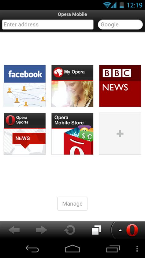 Browse the internet with high speed and stability. New App Original Opera Mobile For Android Re-Released ...