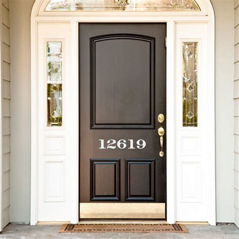 Shop the biggest selection of wall décor at the best prices from at home. House Numbers Wall Decal in 2020   House numbers, Name wall decor, House design