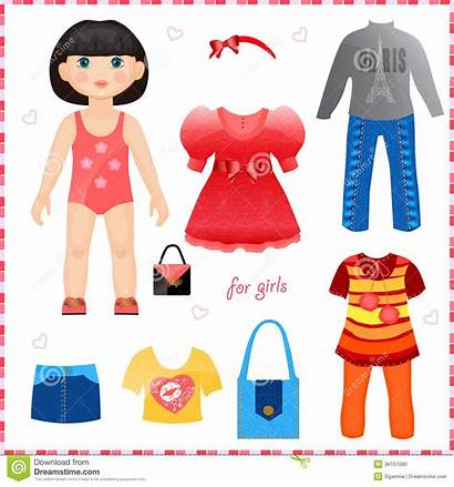 Doll Clothes Clipart Papel Roupa Paper Boneca
