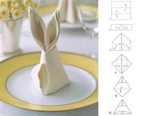 servietten falten hase servietten falten tischdeko mit einfachen falttechniken basteln