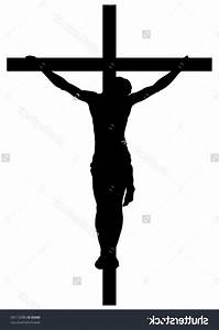 Best Stock Vector Jesus Christ Crucifiction Silhouette Library