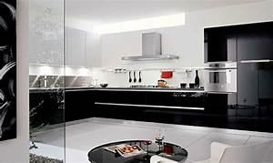decoration cuisine noir et blanc With cuisine equipee noir et blanc