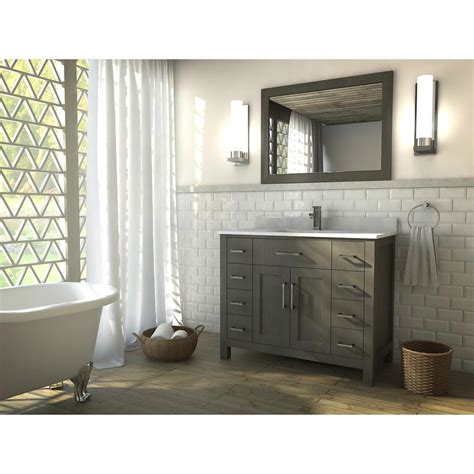 Distressed Bathroom Vanity Canada by The Kent 42 Inch Gray Finish Bathroom Vanity Is