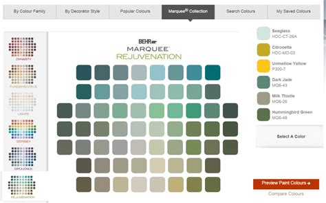 behr paint color swatches the best free paint color software 5 options
