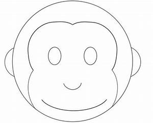 monkey cake design pattern template monkey stuff With monkey face template for cake