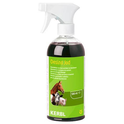 desinfektionsspray desino jod fuer pferde pferdepflege kerbl