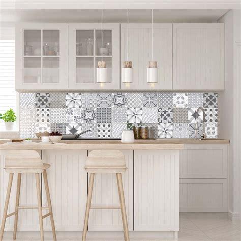castorama 3d cuisine 30 stickers carreaux de ciment nuance de gris romantique