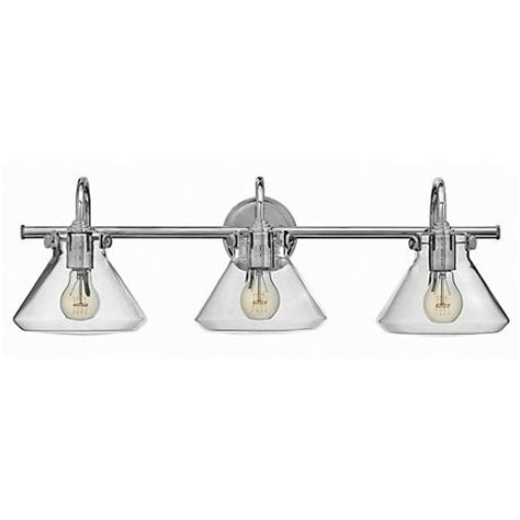 hinkley congress lighting hinkley congress 29 1 2 quot w clear glass chrome bath light