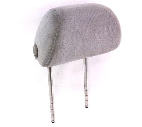 rh front seat headrest   vw jetta golf mk passat grey cloth head rest
