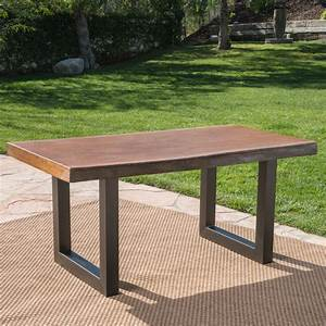 Outdoor, Fuax, Live, Edge, Antique, Finish, Light, Weight, Concrete, Dining, Table, Teak