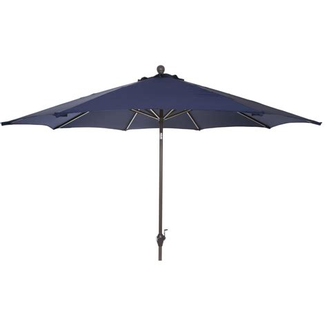 9 ft aluminum patio umbrella navy blue shopperschoice