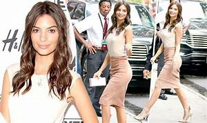 Emily Ratajkowski turns heads in sexy suede skirt as she ...