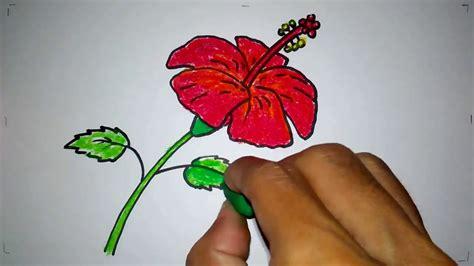 cara mewarnai gambar bunga anggrek