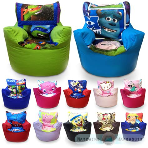 children s character bean bag chairs disney boys