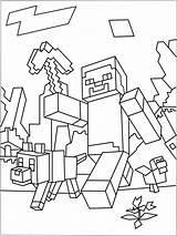 Coloring Minecraft Pages Skins Nether sketch template