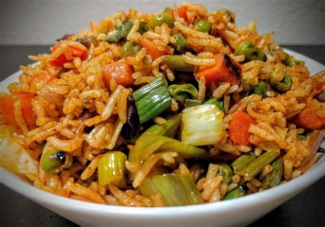 veg fried rice recipe easy vegetable fried rice