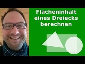 Wie Berechnet Man Die Höhe Eines Dreiecks : fl che eines dreiecks berechnen youtube ~ A.2002-acura-tl-radio.info Haus und Dekorationen