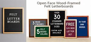 open face wood framed felt letter boards at With letter boards for sale