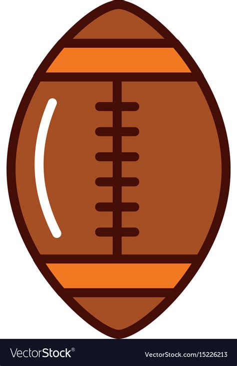 More images for american football ball svg » Brightly american football ball cartoon Royalty Free Vector