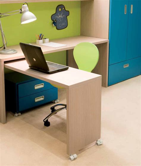kids desk for two cool and ergonomic bedroom ideas for two children by