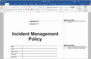 itil incident management policy template image collections With incident management policy template