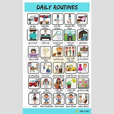 Daily Routines Useful Words To Describe Your Daily Activities  English Words  English Verbs