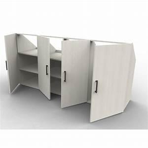 Meuble Pour Comble : meuble sous pente sur mesure blanc pin de navarre ~ Edinachiropracticcenter.com Idées de Décoration
